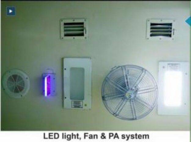 LED, FAN and PA System