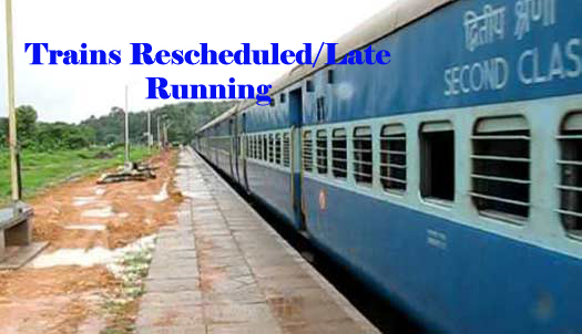 List of Reschedule-Delayed Trains Running on 8th March
