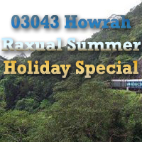 New Train 03043 Howrah Raxual Summer Holiday Special