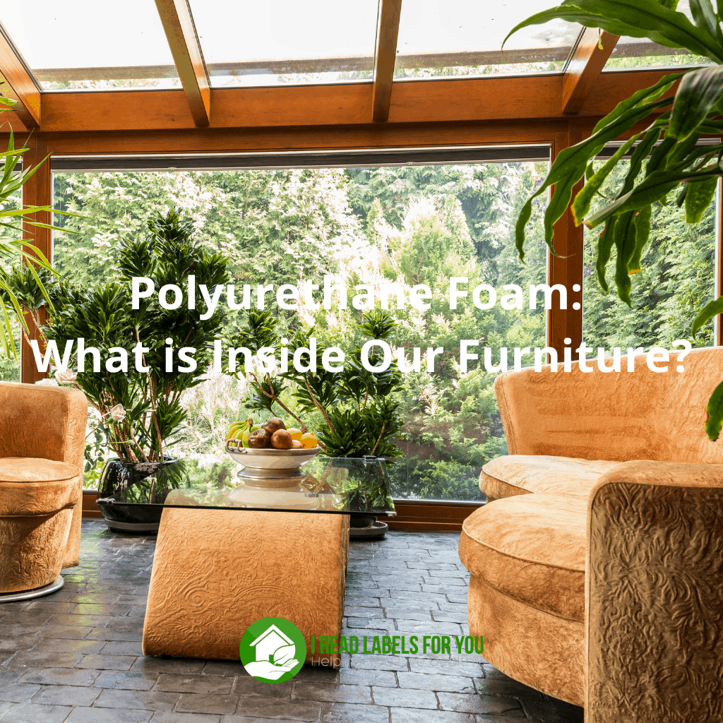 Polyurethane foam. A photo of polyurethane in furniture.