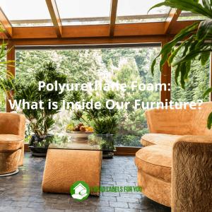 Polyurethane foam. A photo of polyurethane in furniture.