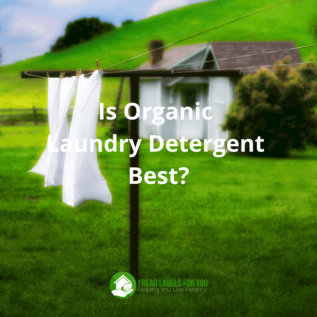 Organic Laundry Detergent. A photo of hanging laundry washed with non-toxic laundry detergent.