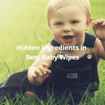 Hidden Ingredients in Best Baby Wipes. A photo of a baby in grass.