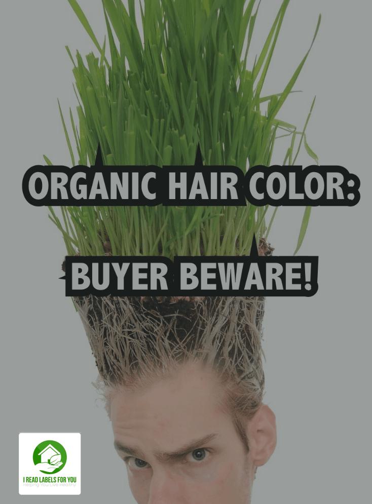 Organic natural hair dye
