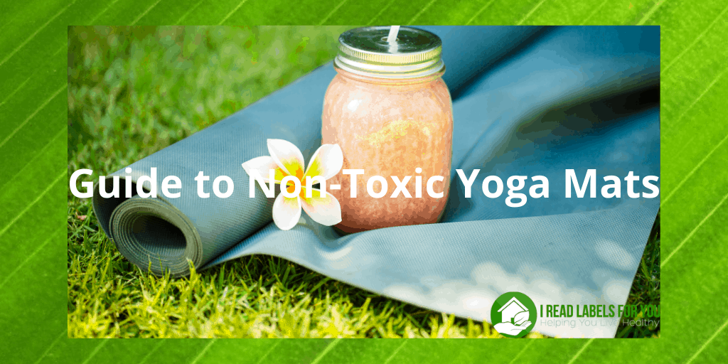 Your Non-Toxic Yoga Mat Guide. A picture of a natural yoga mat.
