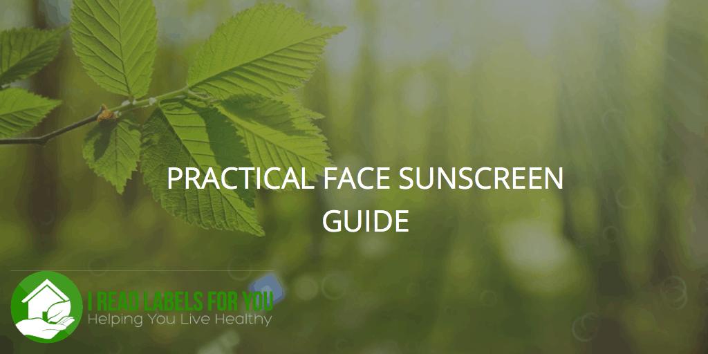 Non-Toxic Face Sunscreen