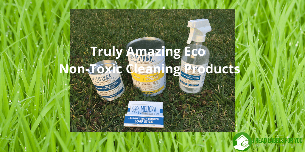 Truly Amazing Eco Non-Toxic Cleaning Products. A photo of Meliora safest cleaning products.