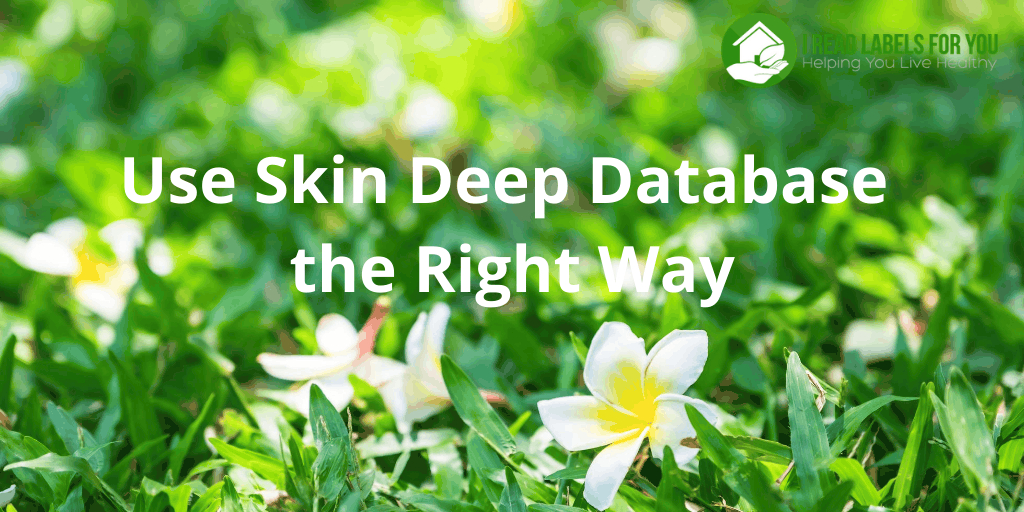 Skin Deep Database the Right Way. A photo of a meadow with EWG cosmetics database.