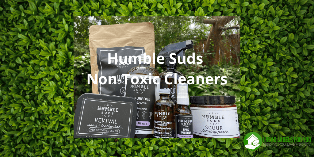 Humble Suds Non-Toxic Cleaners for you. A photo of safe cleaning products.