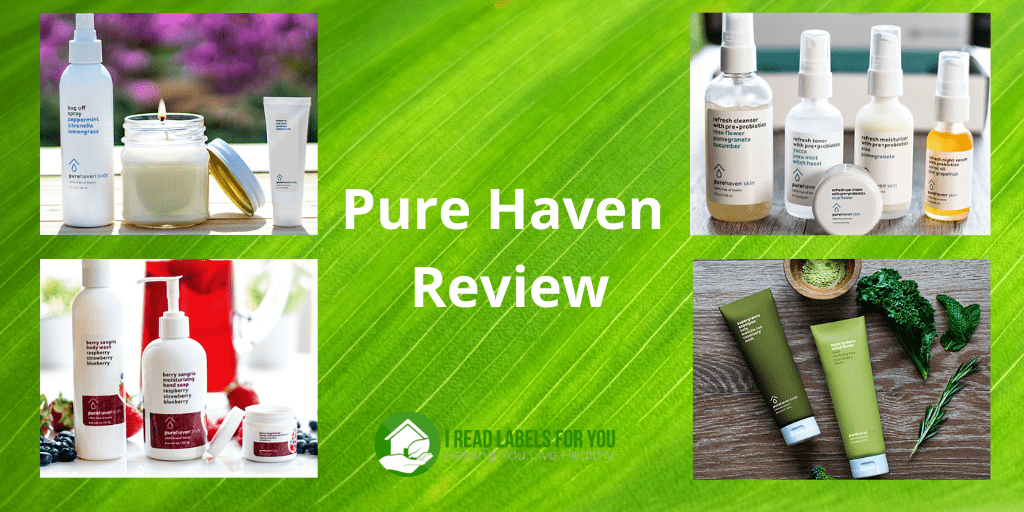 Pure Haven Review. A picture of Pure Haven body products and skincare.