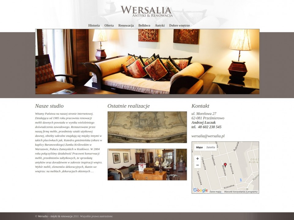 Website Wersalia