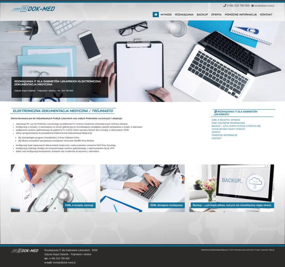 Strona internetowa DOK-MED