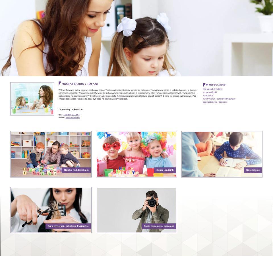 Strona internetowa malve