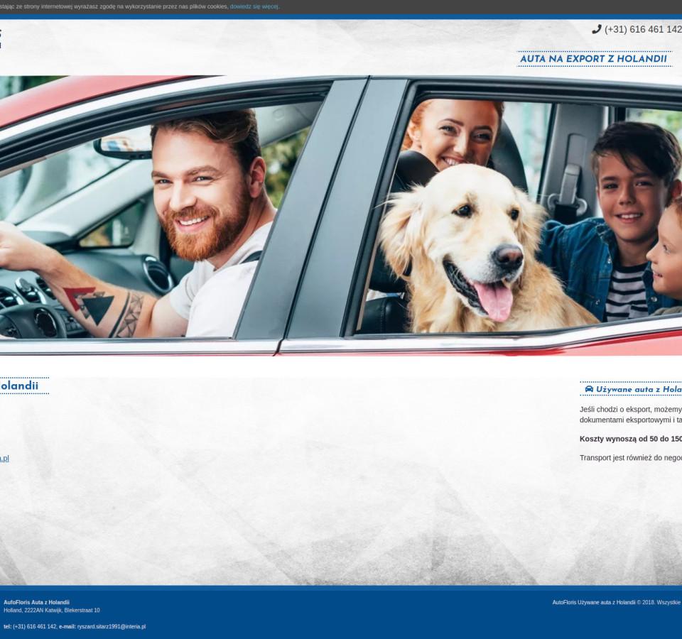 Strona internetowa AUTOFLORIS