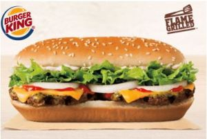 Burger King Extra Long Buttery Cheeseburger