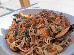 Espagueti con marisco