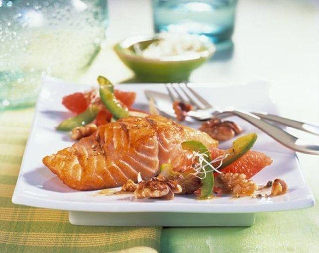 Salmón con salsa cítrica 2