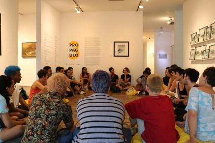 Roda de debate na abertura da Exposição Propágulo: fotografia e identidade no Museu Murillo la Greca. 2019. Foto: Nathália Sonatti