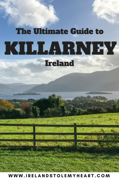 The ultimate Guide to Killarney, Ireland. Including the best things to do in Killarney, where to stay in Killarney, and the best restaurants in Killarney. Killarney, Ireland is absolutely gorgeous and a must when travelling to Ireland. #Killarney #RingofKerry #Ireland