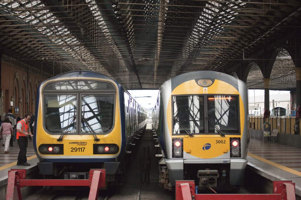 Trains in Connolly Station