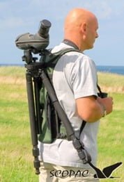 The Scopac Lite scope carrier helps makes light work of carrying your gear.