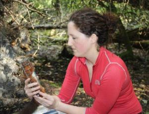 Emma Sheehy with red squirrel