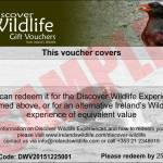 Discover Wildlife Gift Voucher Sample