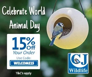 15% Off Garden Wildlife products for World Animal Day