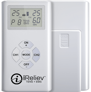 ET-7070 iReliev TENS + EMS Unit Pain Relief and Muscle Strength and Recovery System