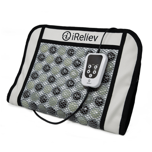 iReliev far infrared heating pad. relieve soreness, heating pad, stone therapy, relief