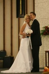 November 10, 2007 - Elizabeth, student founder of Life in a Jar/the Irena Sendler Project and husband, Graham Hutton, on their wedding day.