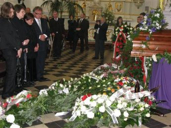 Irena Sendler's funeral is over in Warsaw, on May 15, 2008. She passed away on May 12, 2008.