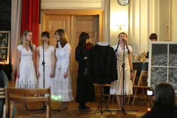 Students from I Liceum school in Kdezierzyn-Kozle, Poland present a remembrance of the Holocaust. The director is the teacher, Marzanna Pogorzelska, 2010 recipient of the Polish Irena Sendler Award.