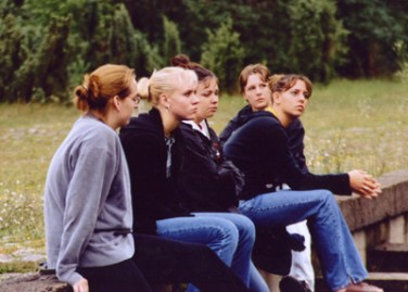 Five of the 'Life in a Jar' students at Treblinka, reflecting on the terrible events.