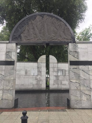 Umschlagplatz, the train station where the Jews were taken from the Warsaw Ghetto to the death camp at Trebklina