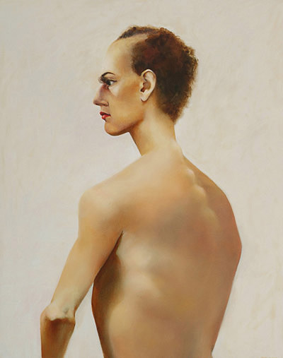 Show Girl, 840mm x 660mm, oil on canvas, 2007