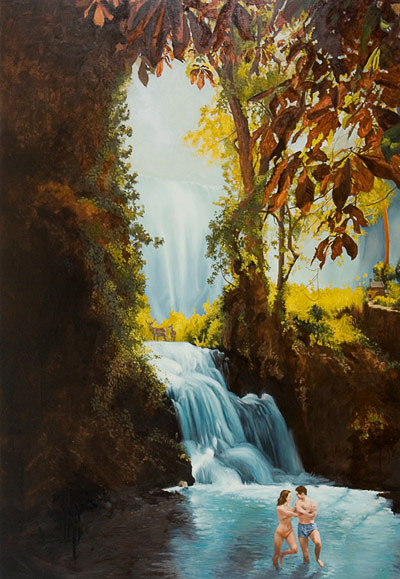 painting-2012-landscape-waterfall-dorothy-falls