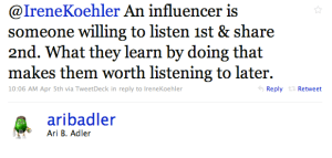 influencer tweet 1 - influencer tweet 1