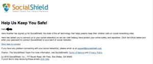 socialshield email to child - almostsavvy.com - socialshield email to child