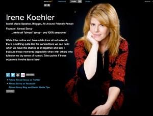 about.me irenekoehler - http://about.me/irenekoehler