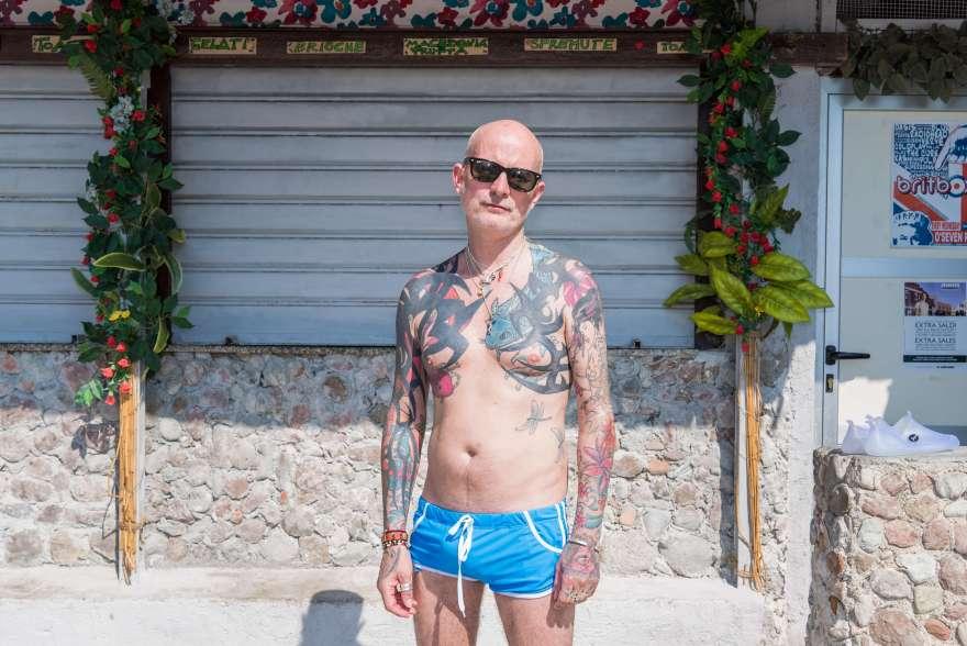 Martin, da Londra, in vacanza in Sicilia. Isola Bella, Taormina.