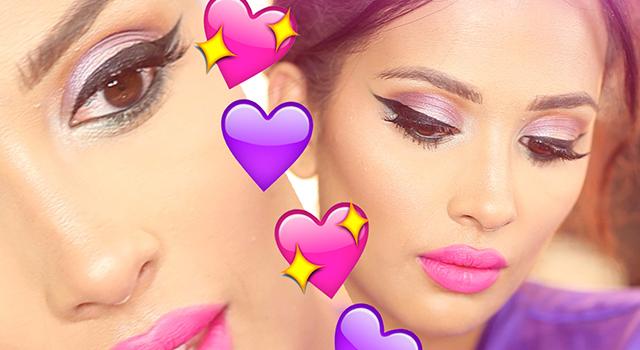 Pink & Purple Pastel Makeup