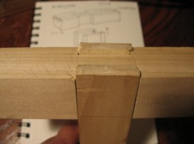 my first bridle joint