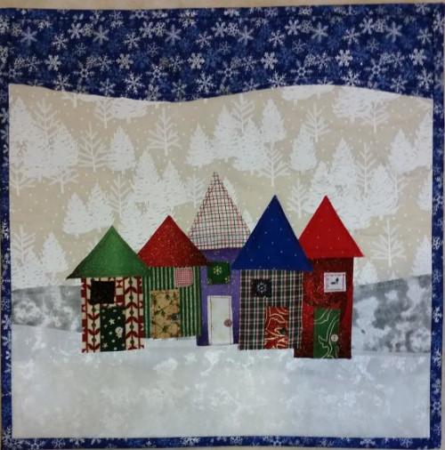 Christmas Row Houses Pattern