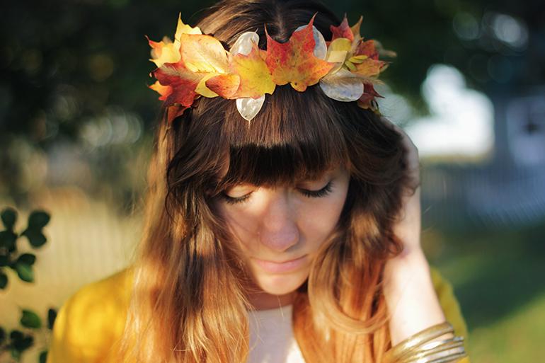 Fall In Love Autumn Leaf Crown Allfreediyweddings Com