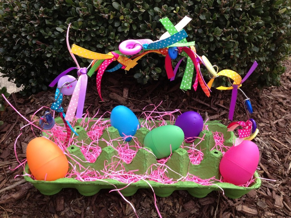 Recycled Egg Carton Easter Egg Basket