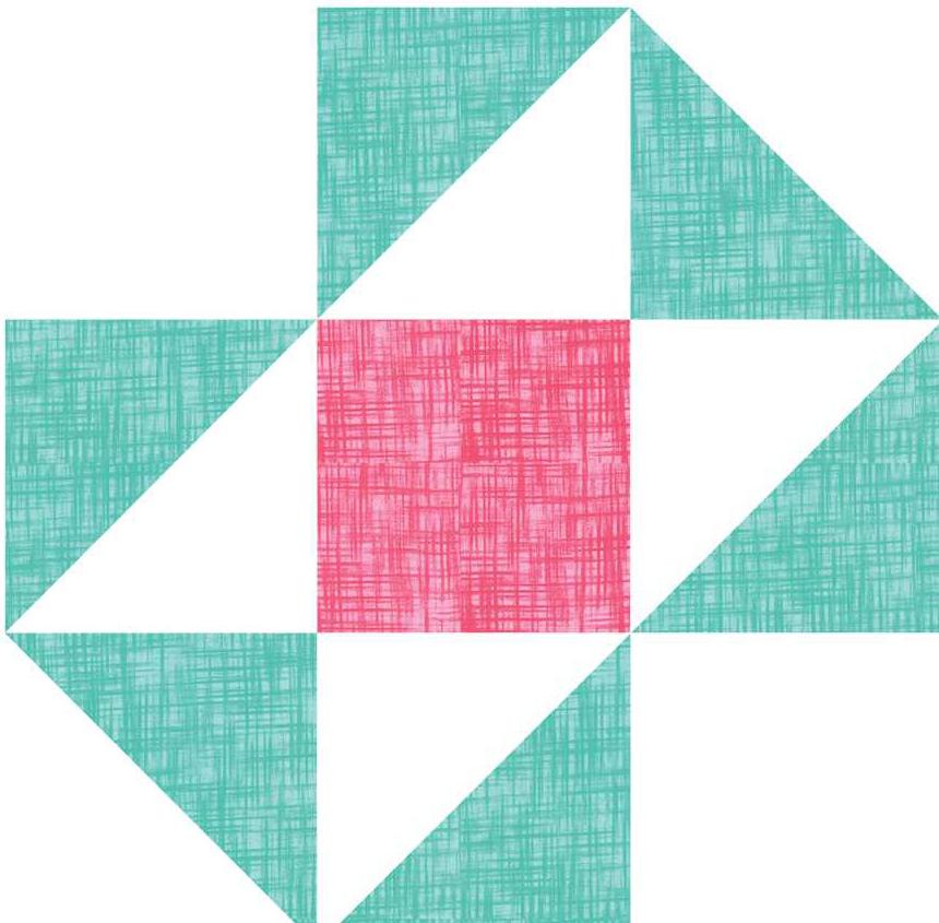 Split Nine Patch Quilt Block Pattern