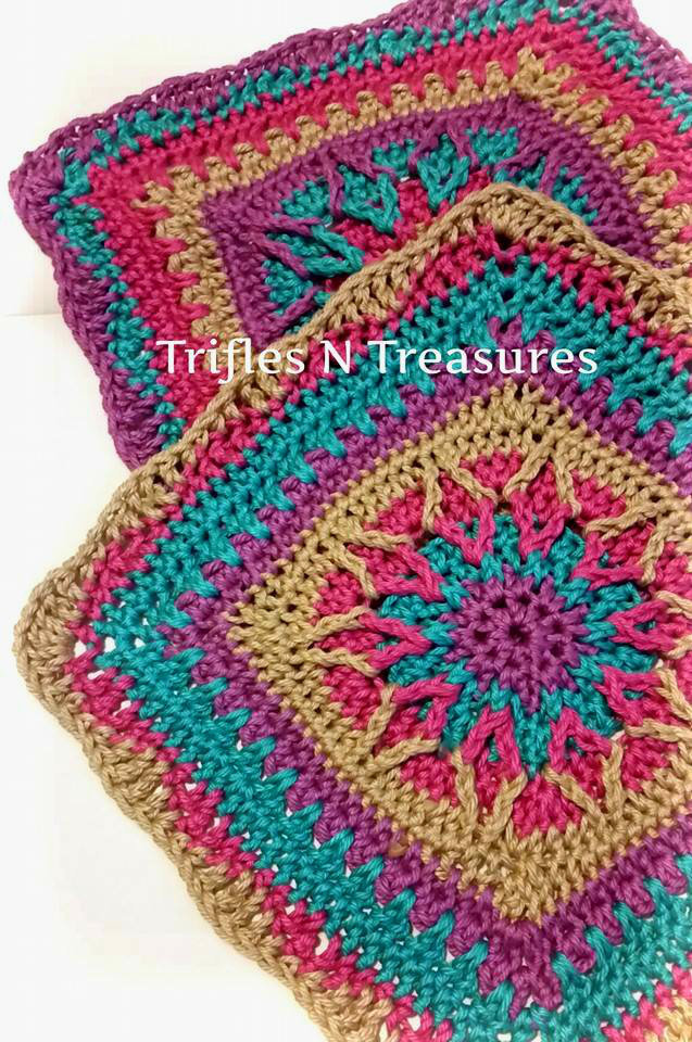 Starburst Crochet Granny Square