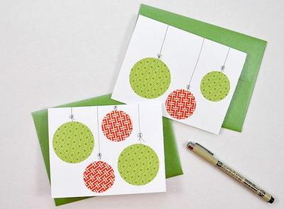 DIY Washi Tape Christmas Card