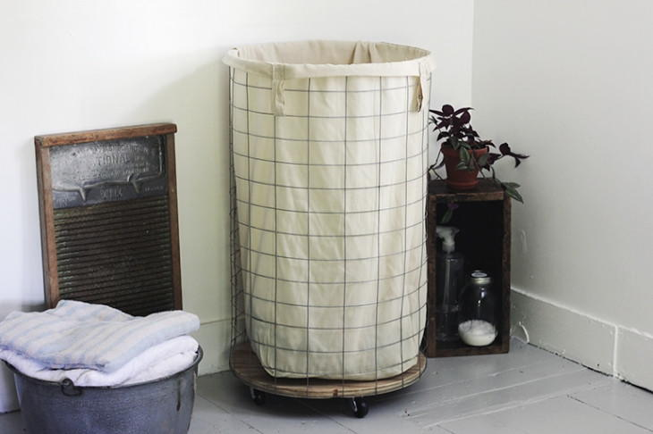 Wire DIY Laundry Hamper